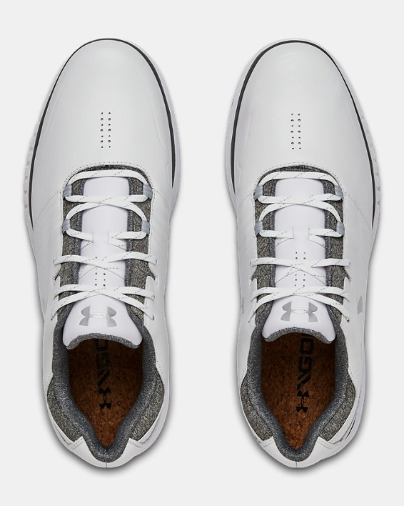 Men's UA Showdown SL Golf Shoes, White, pdpMainDesktop image number 3